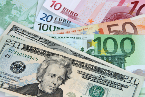 dolar, euro, měny