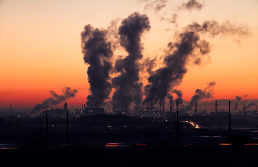 industry, emise, smog