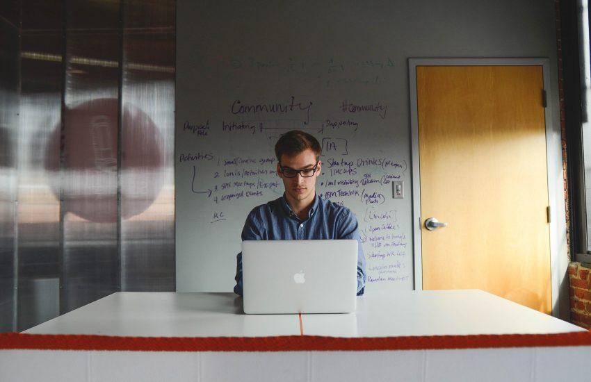 entrepreneur, podnikatel, počítač, práce, kancelář