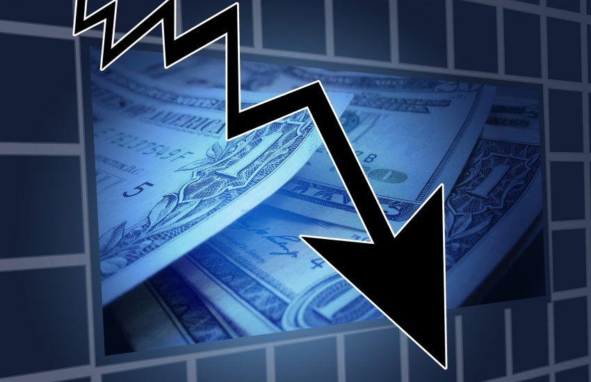 krize, pokles