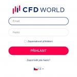 CFDworld Přihlášení