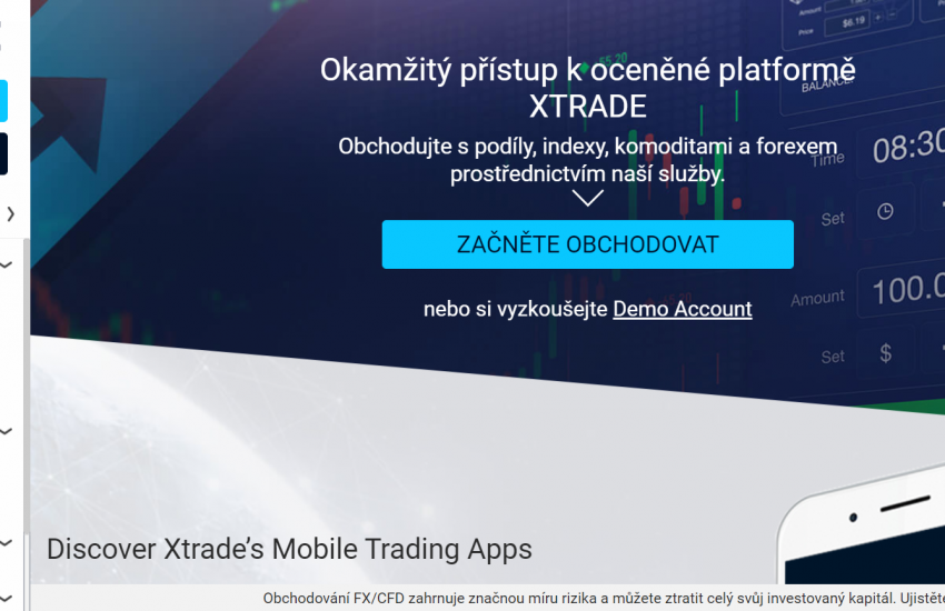 Web společnosti Xtrade