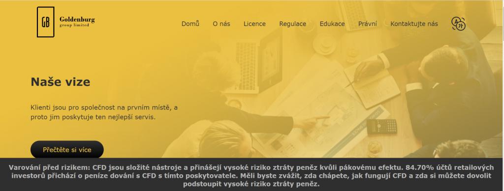 Goldenburg Group - webové stránky