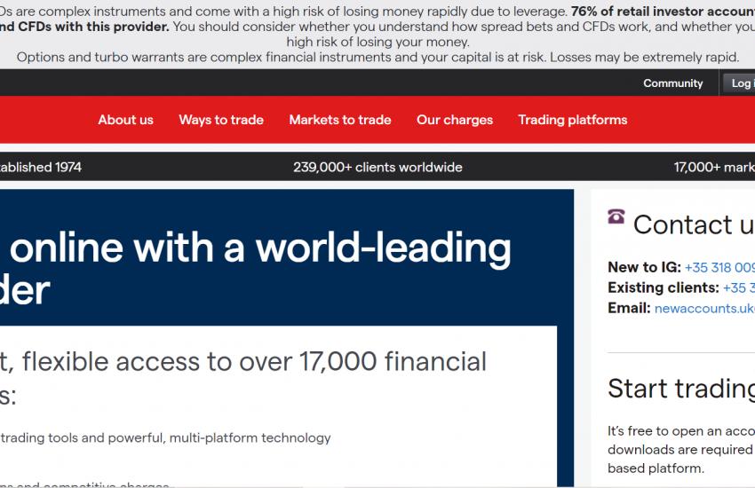 IG International Limited web