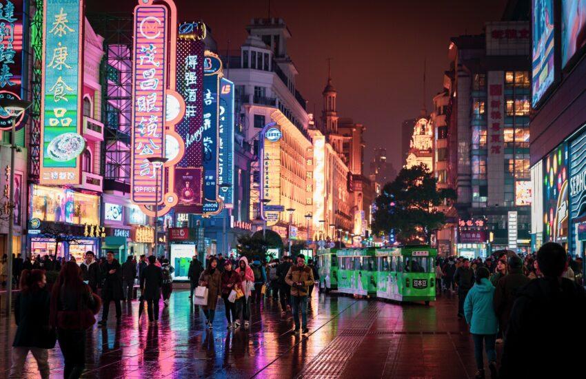 Čína, Asie, asijské město